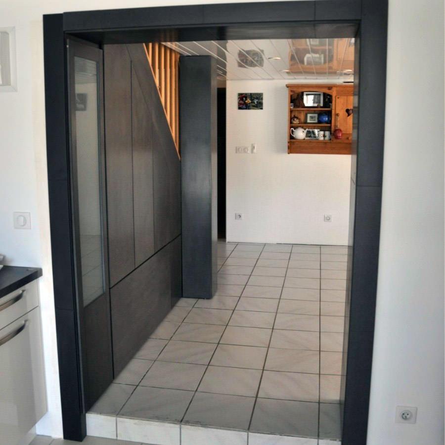 agencement sous escalier valchromat par vincent r. Black Bedroom Furniture Sets. Home Design Ideas