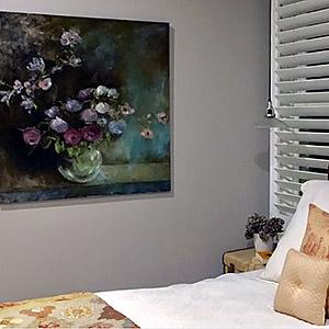 Esprit floral et intimiste pour chambre à coucher Isabelle