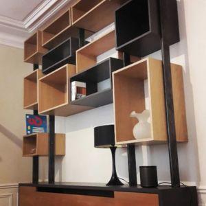 Ensemble meuble TV bibliothèque Nicolas