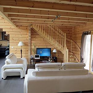 Maison en bois - vue intérieur alexandre