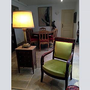 Agencement salon et salle à manger  et restauration des meubles Pauline