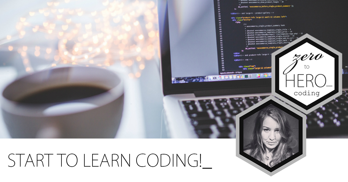 Start to learn coding websites with me!