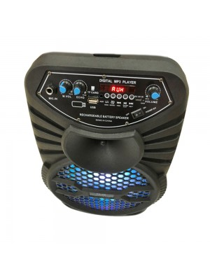 "Wireless Bluetooth Speaker ""8'' For Karaoke With Travel Handle"