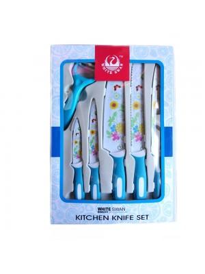 Kitchen Non Stick Knives Set 6 Pcs