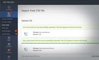 Bulk CSV Import