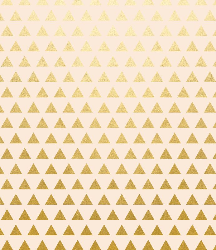 Blush and Gold Triangles