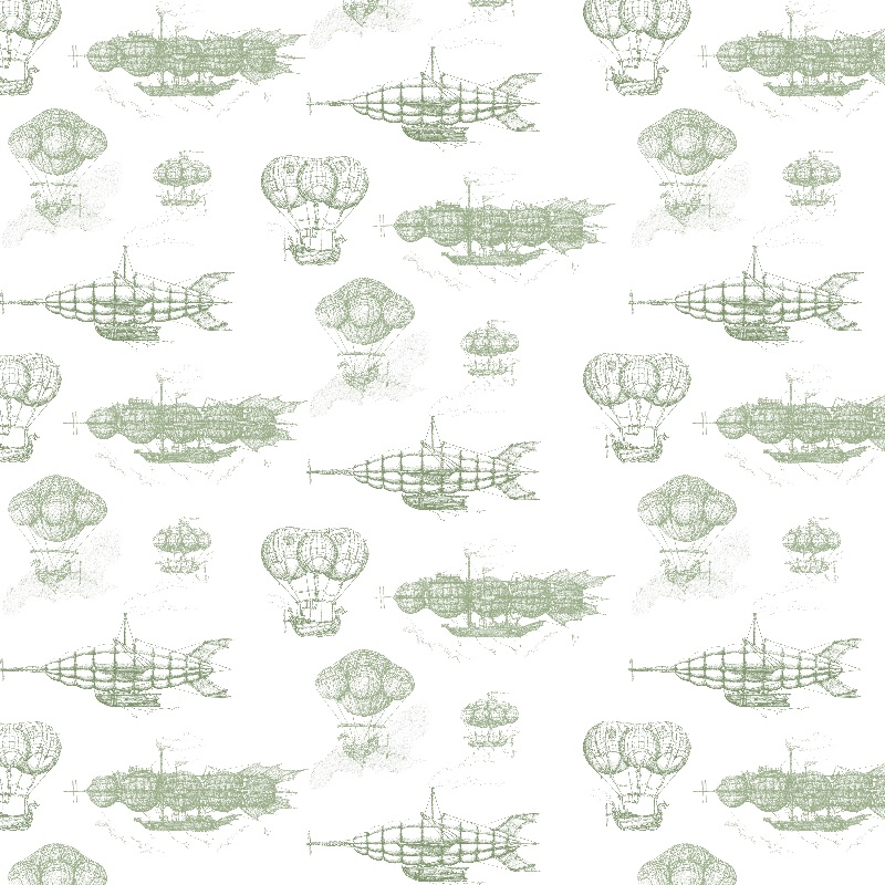 Airship Pattern Green