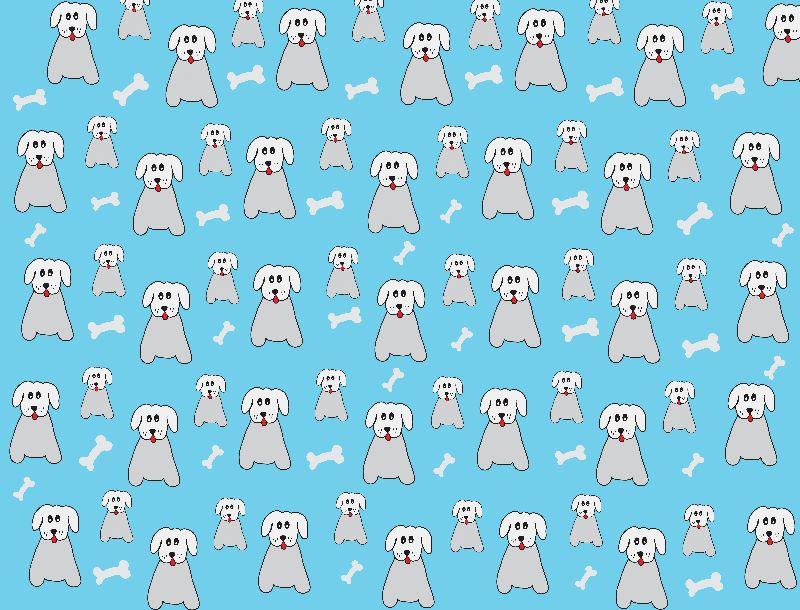 Doodle Dog Blue