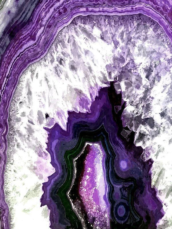 Purple Ultra Violet Agate