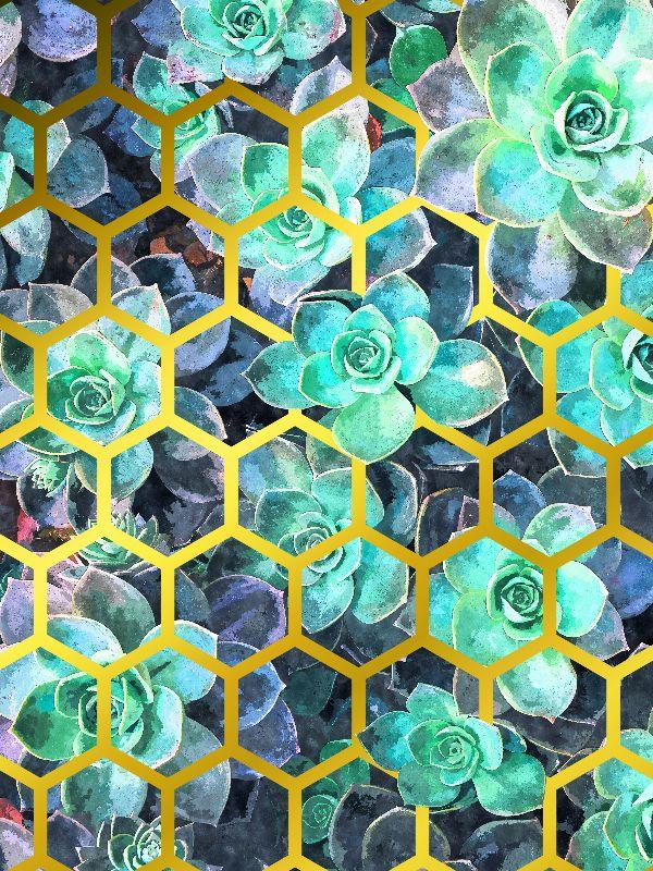 Succulent Gold Geometric