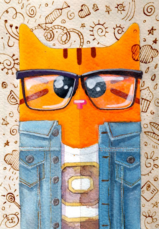 Denim Cat