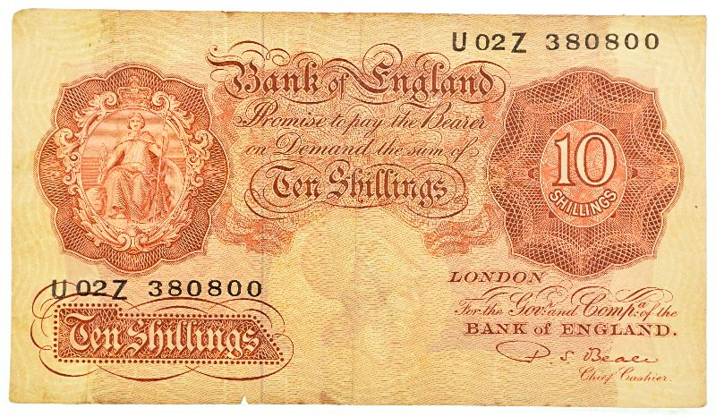 10 Shilling Sterling Note