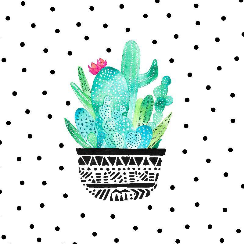 Pot Me A Cacti Dots