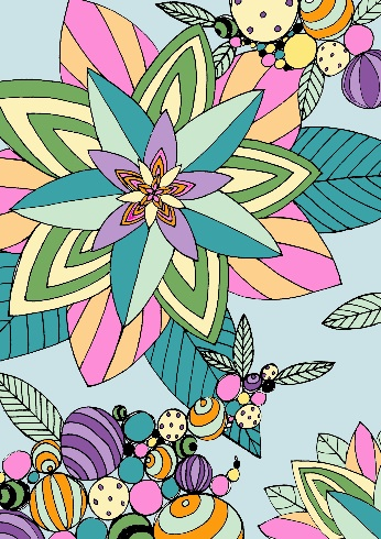 Gaudy Garden in Pastels