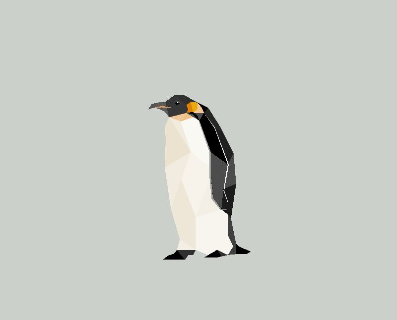 Abstract Geo Penguin