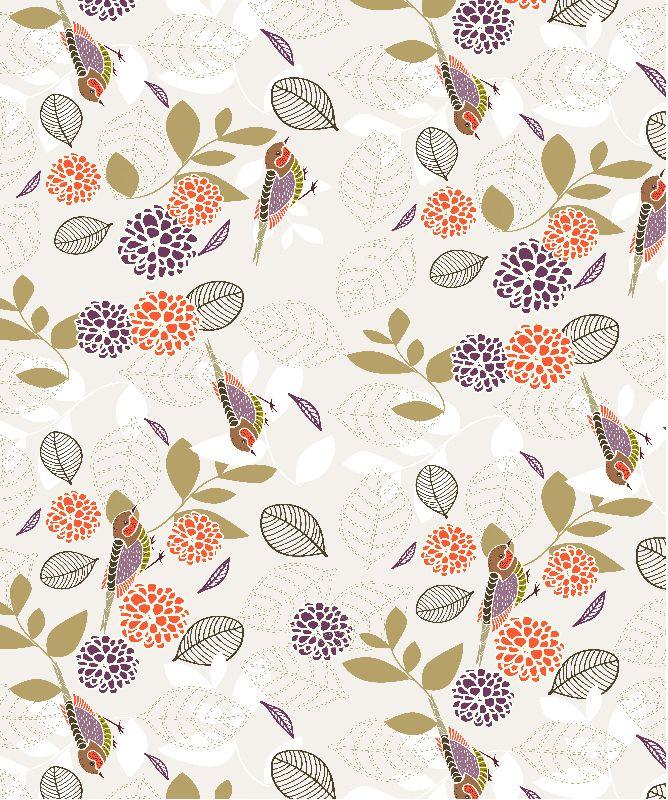 Floral  Birds pattern