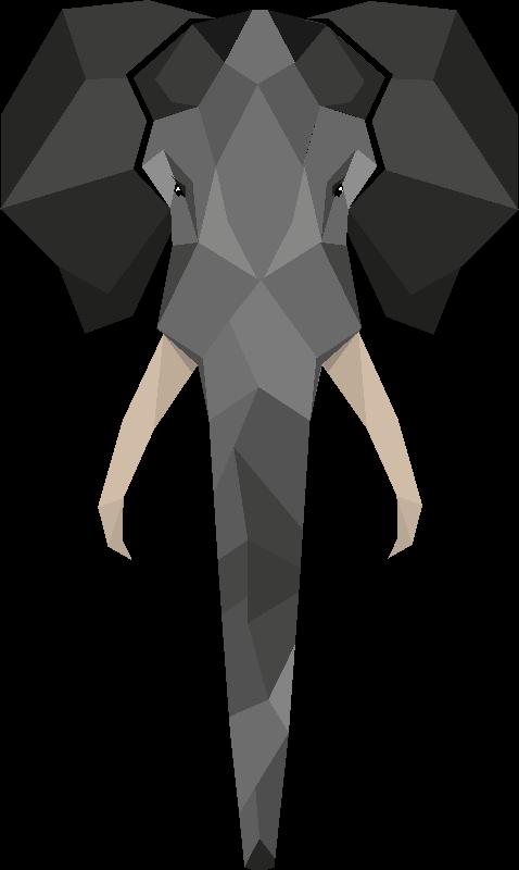 Geo Peeping Elephant
