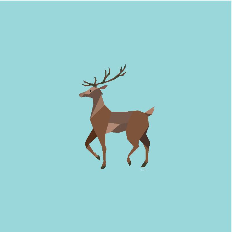 Geometric Style Reindeer