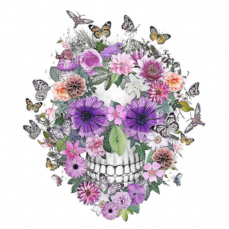 flower power skull