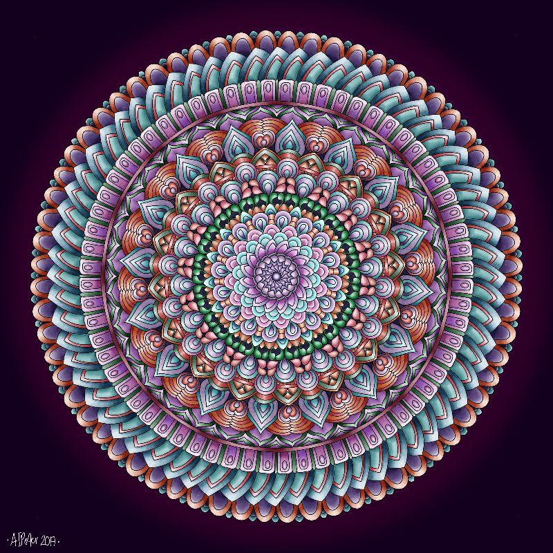 Mandala in Vintage colors