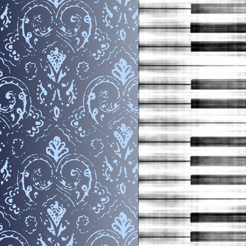 Piano Music Damask