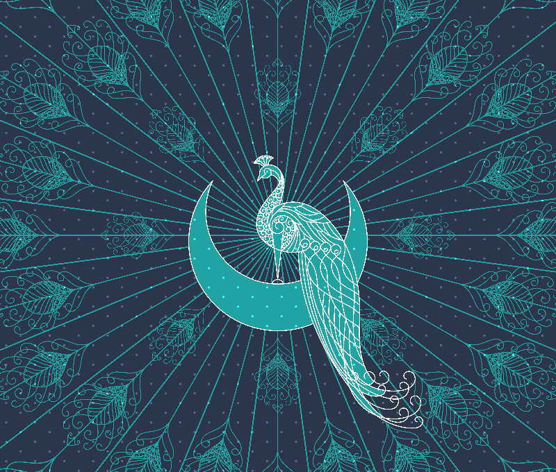 Peafowl On The Moon
