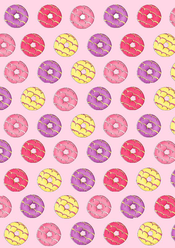 Party Rings in Pink