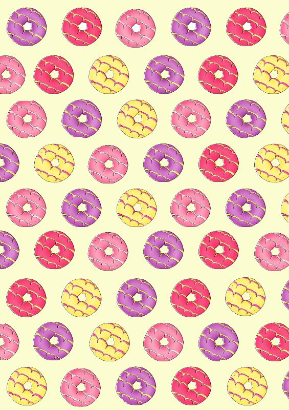 Party Rings in Yellow