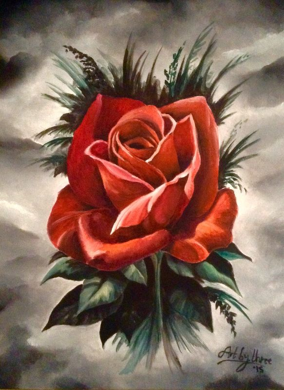 Red Rose Gothic Design