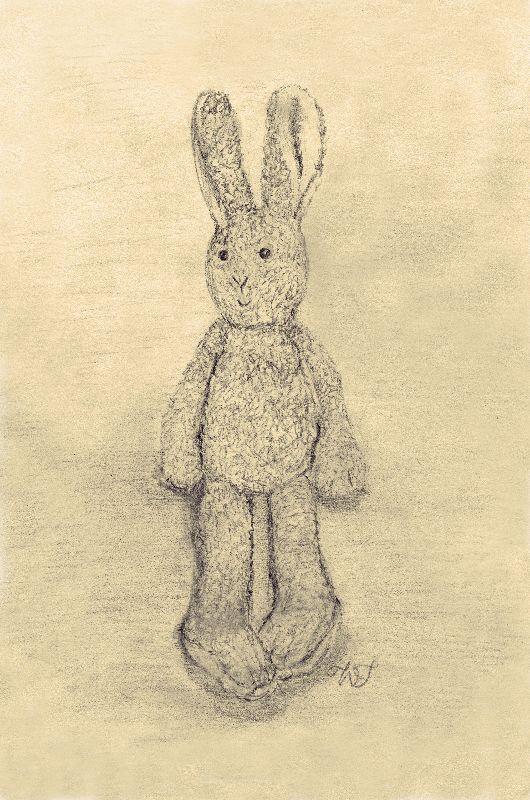 Boy bunny Sepia