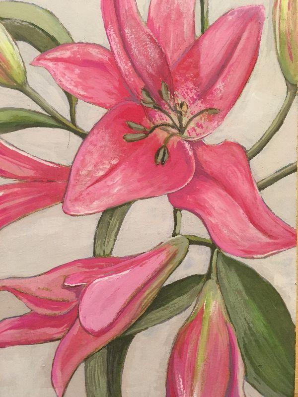 Lilies gouache