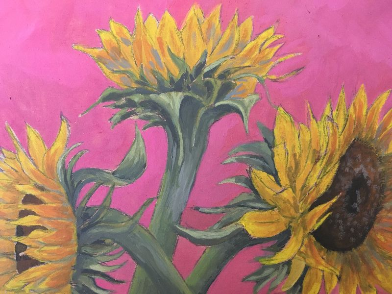 Sunflowers gouache