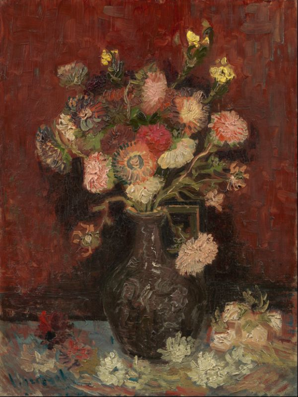 Vase with Chinese asters