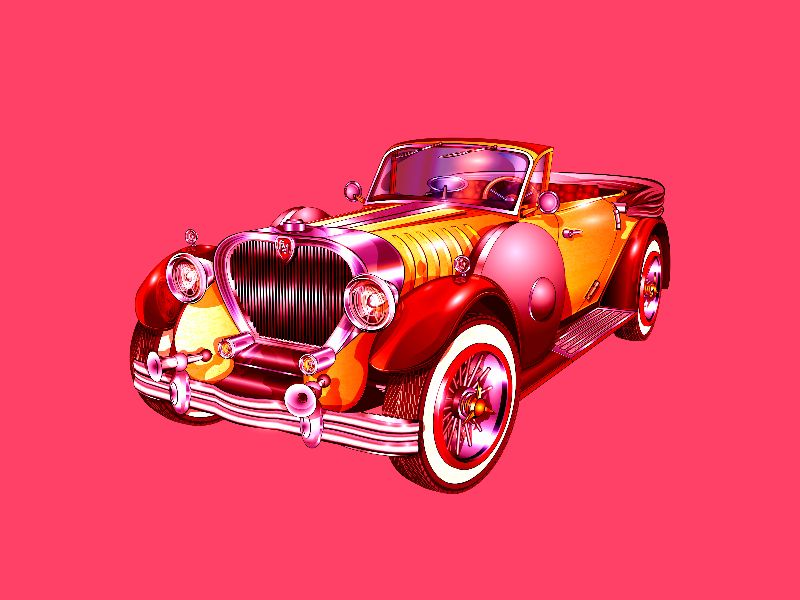 Vintage Car illustration