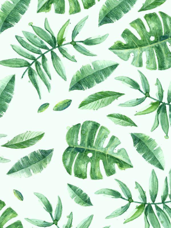 leaf watercolor art