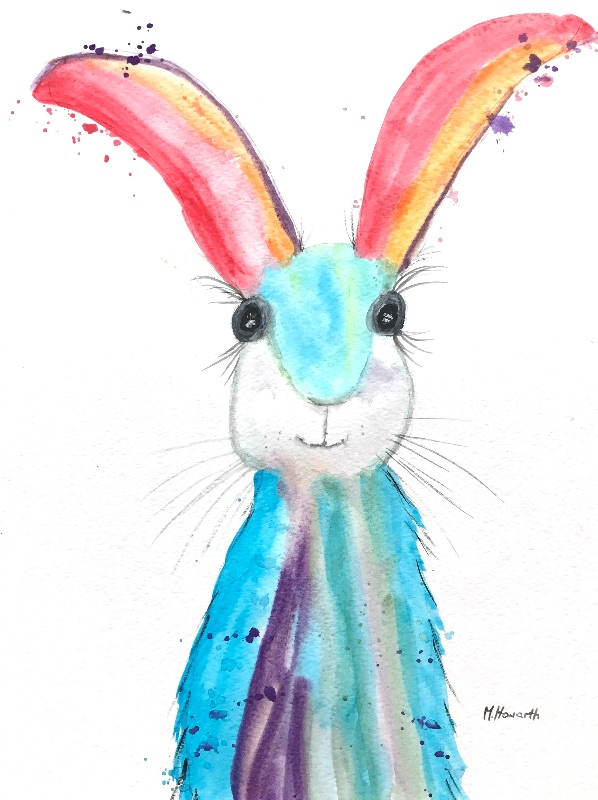 Hare animal art