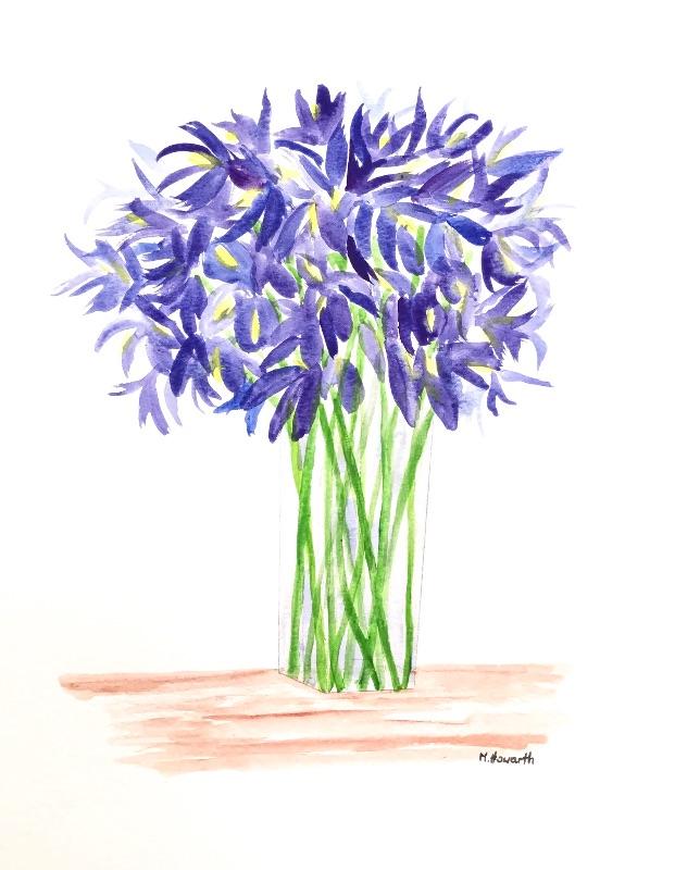Irises flowers bouq