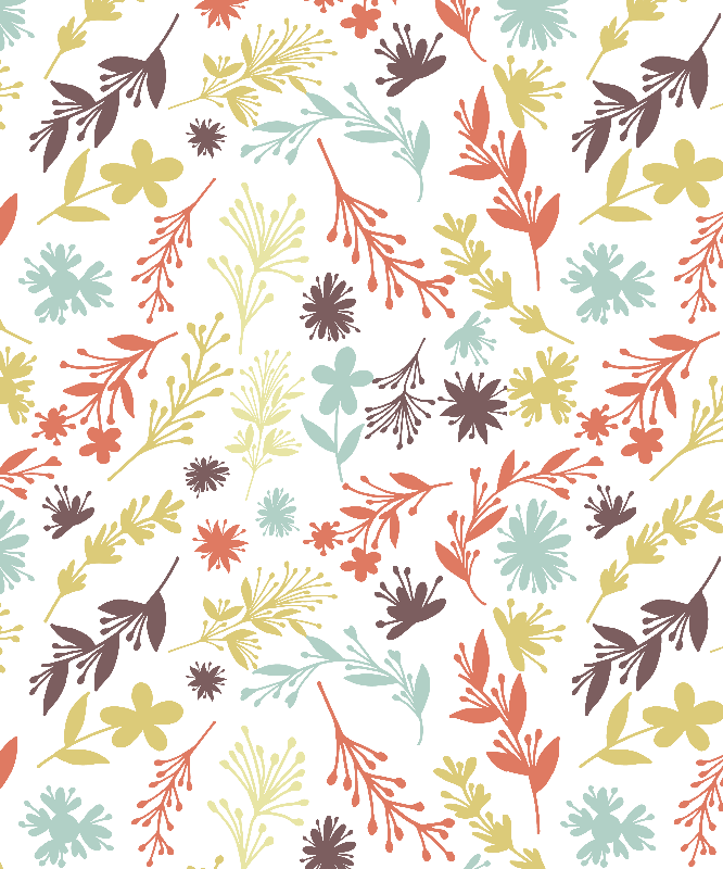 botanical doodles pattern