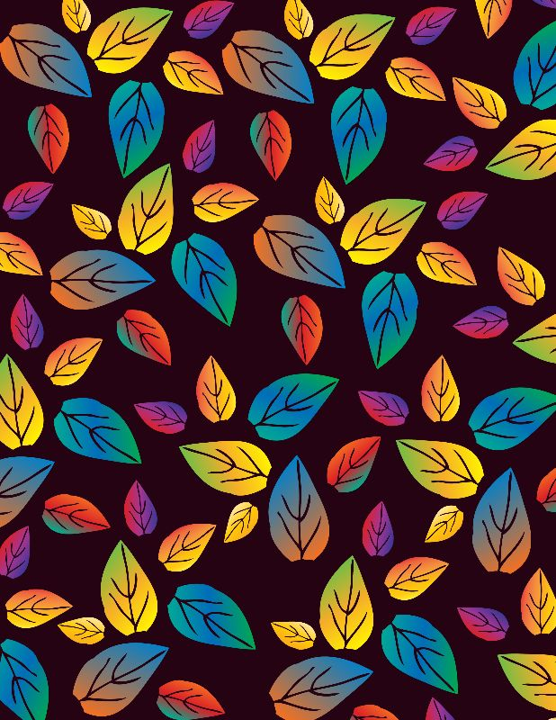 leaves patterned