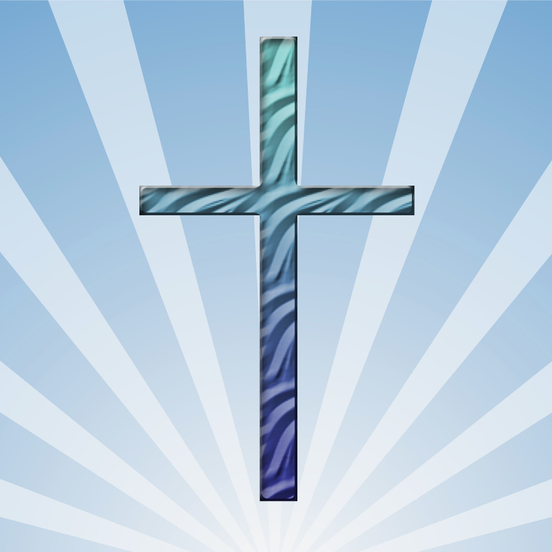 Blue Rippled Cross