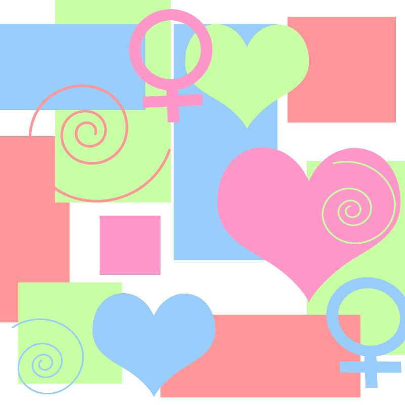 Hearts and Female Sign
