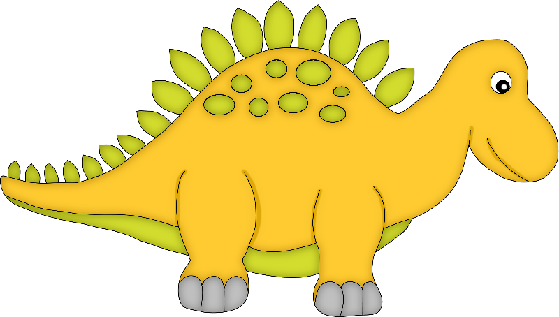 Yellow Cartoon Dinosaur