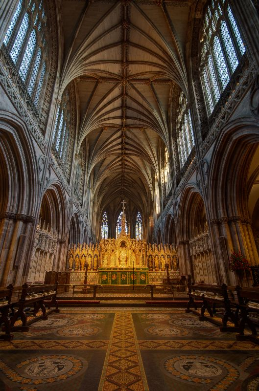 Lichfield cathedral in