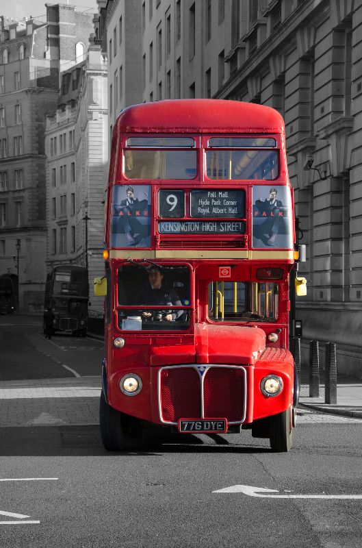 London red bus popped