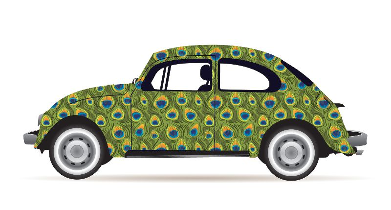 Peacock VW Beetle