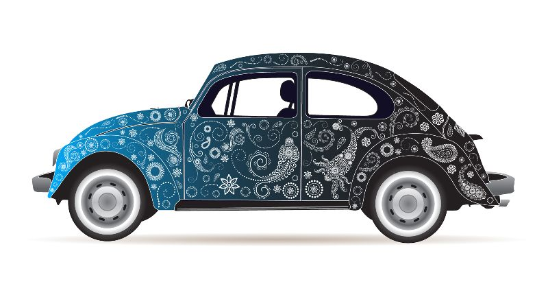 Retro Paisley VW Beetle