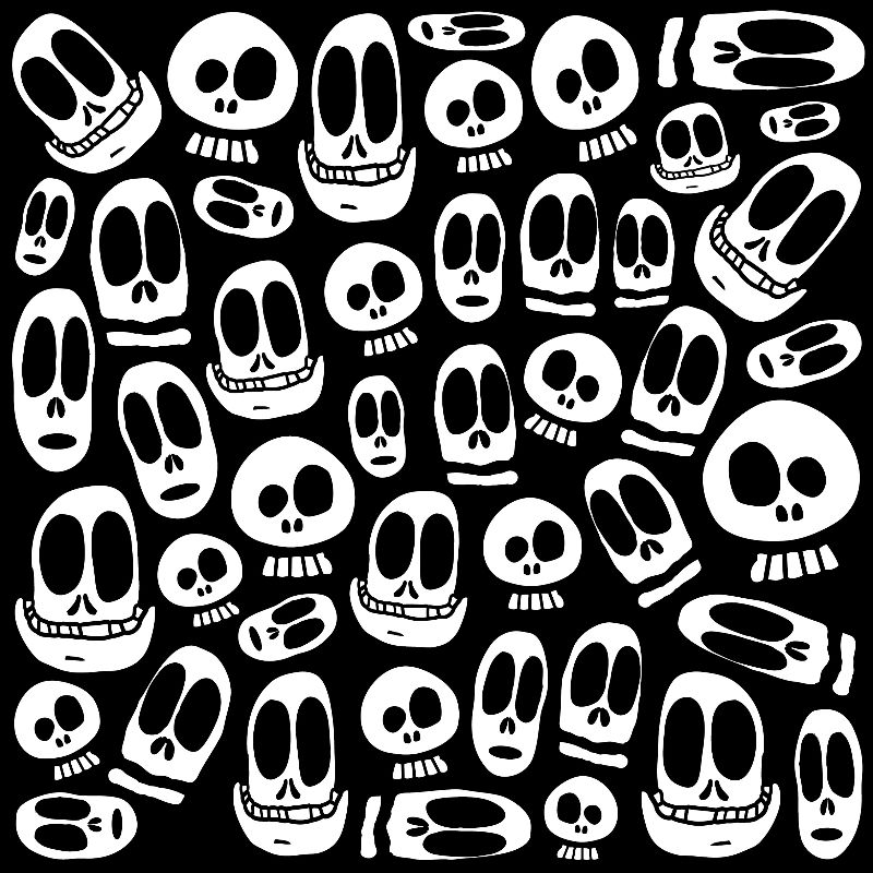 Smiley Skulls Cartoon