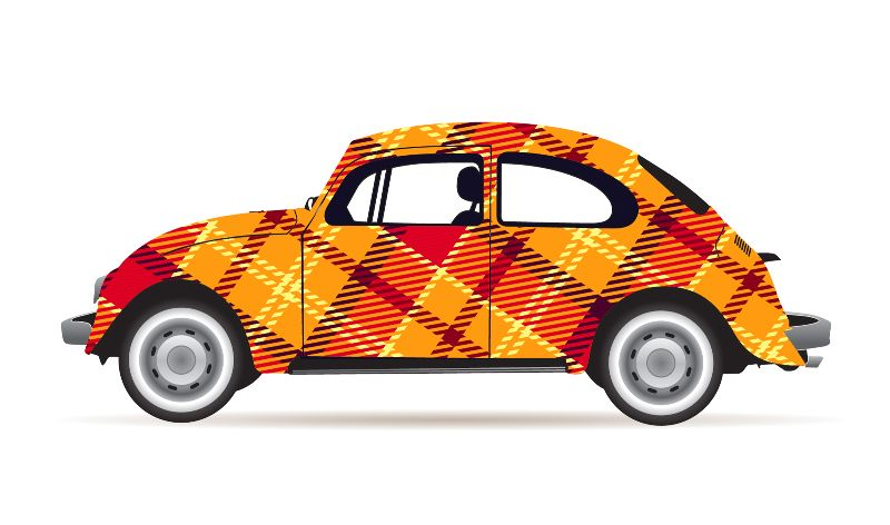 Tartan Plaid VW Beetle