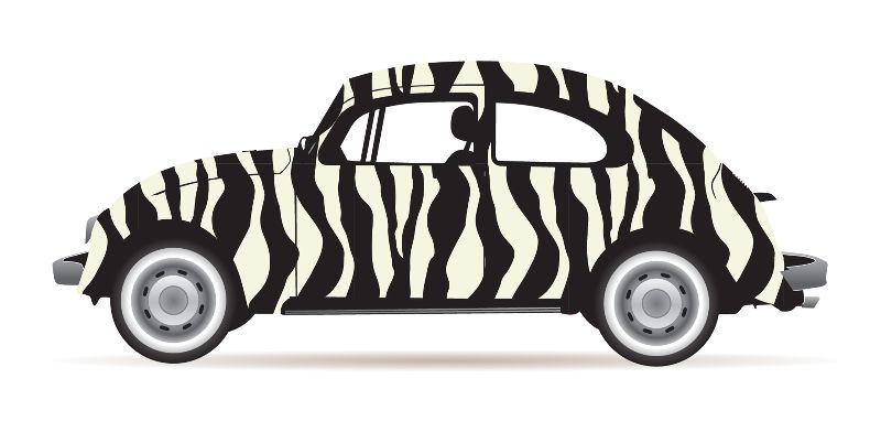 Zebra VW Beetle