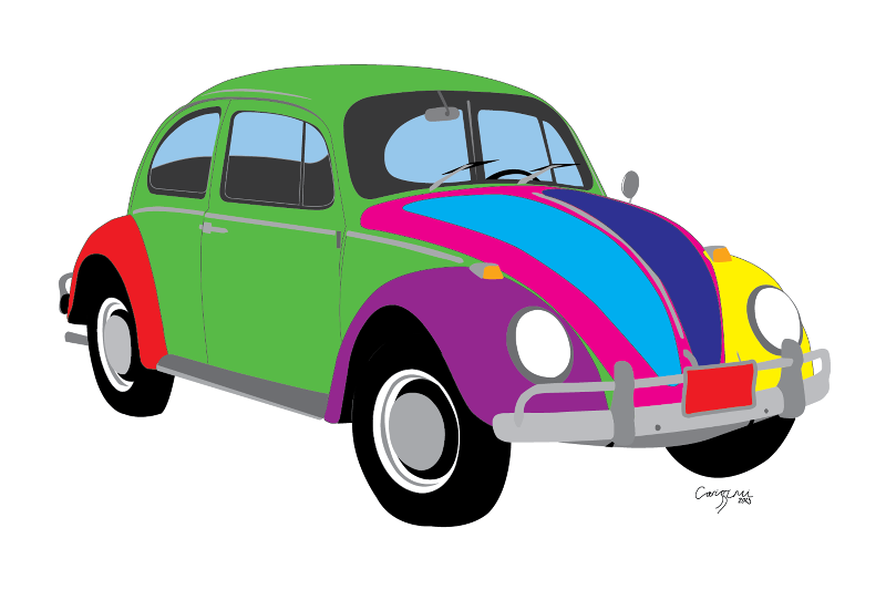 Rainbow VW Bug